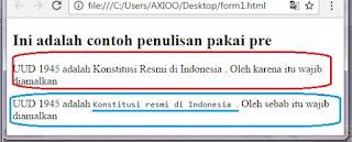 penulisan html default