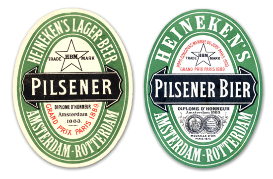 Heineken labels 1880-90s