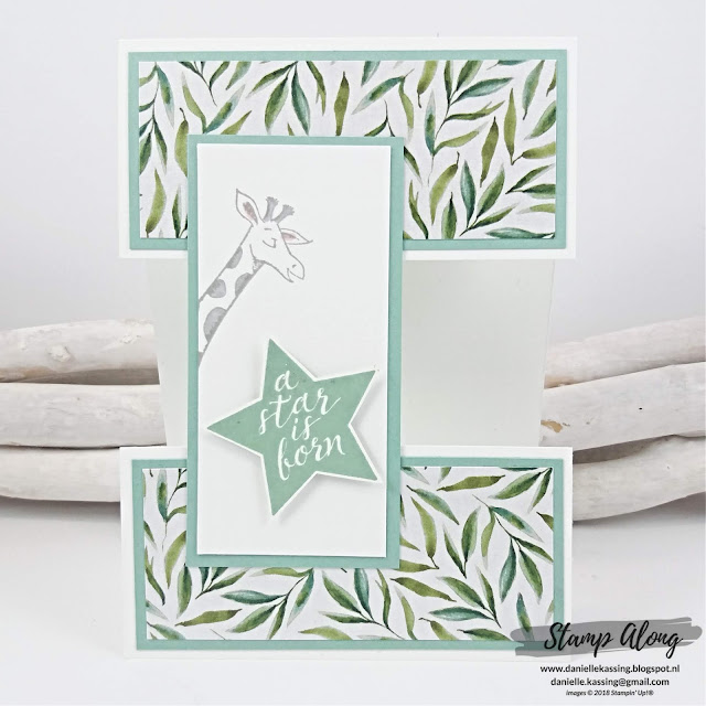 Stampin' Up! Frosted Florak Specialty DSP en animal outing