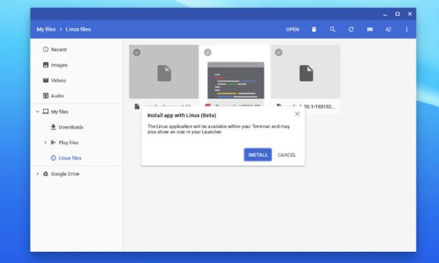 Chrome OS Mendukung Pemasangan Paket Linux