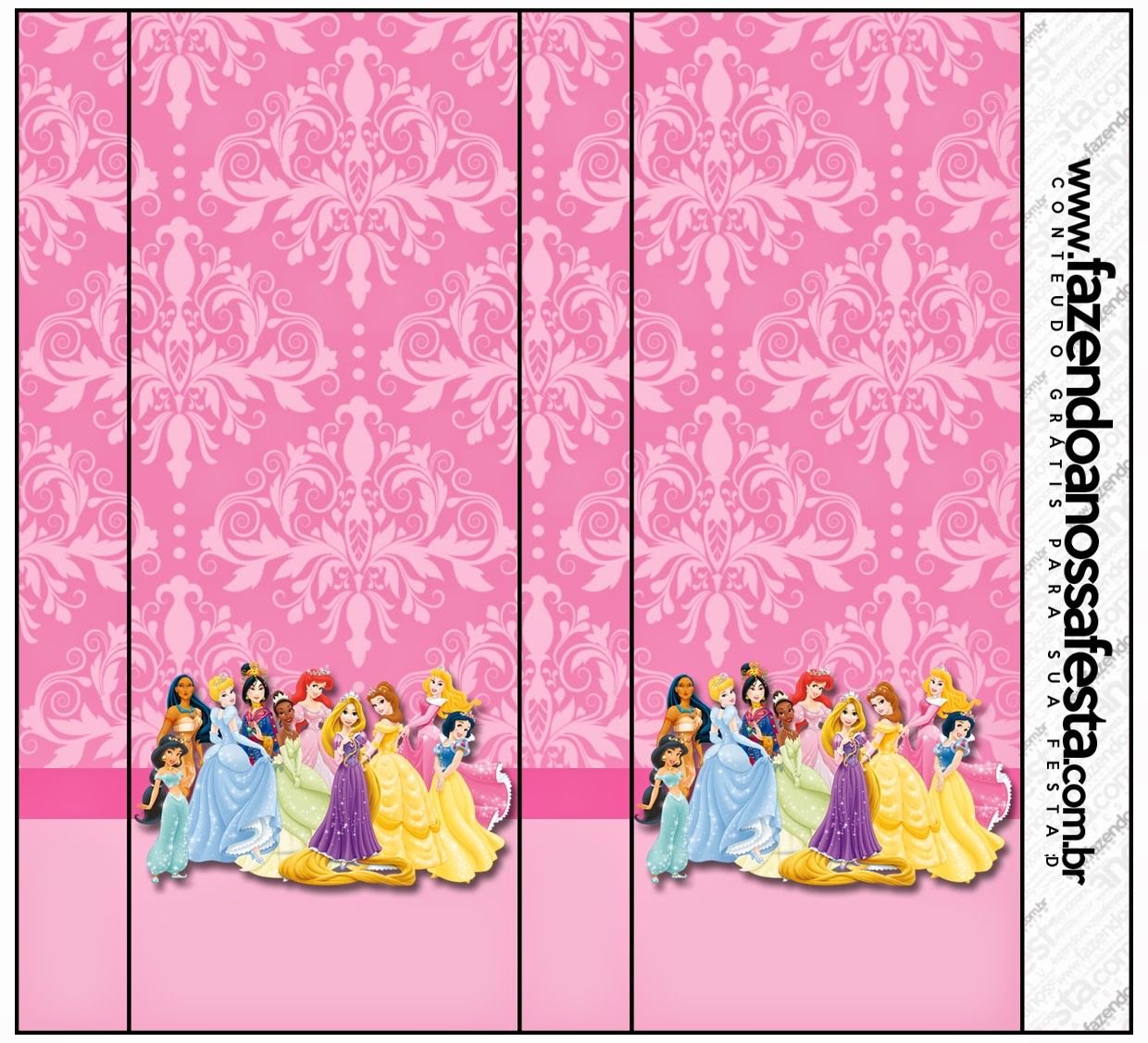 Disney Princess Party Free Printable Candy Bar Labels Oh My Fiesta In English