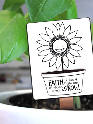 A Year of FHE // This cute seed card would be great to print for Family Home Evening or Activity Days to teach kids about Faith in Jesus Christ and how to nurture that faith. #lds #free #download #fhe #familyhomevening #activitydays
