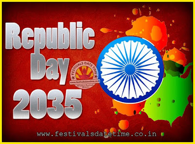 2035 Republic Day of India Date, 2035 Republic Day Calendar