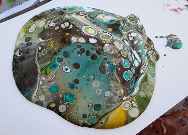Janey S Cards Acrylic Pouring No 1