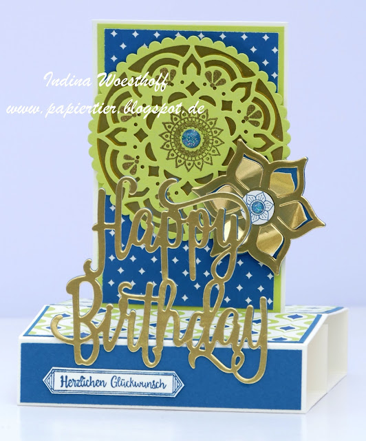 Orientpalast | Stampin' Up! | papiertier Indina | Pop-up Card | Anleitung