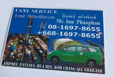 contato taxi bangkok