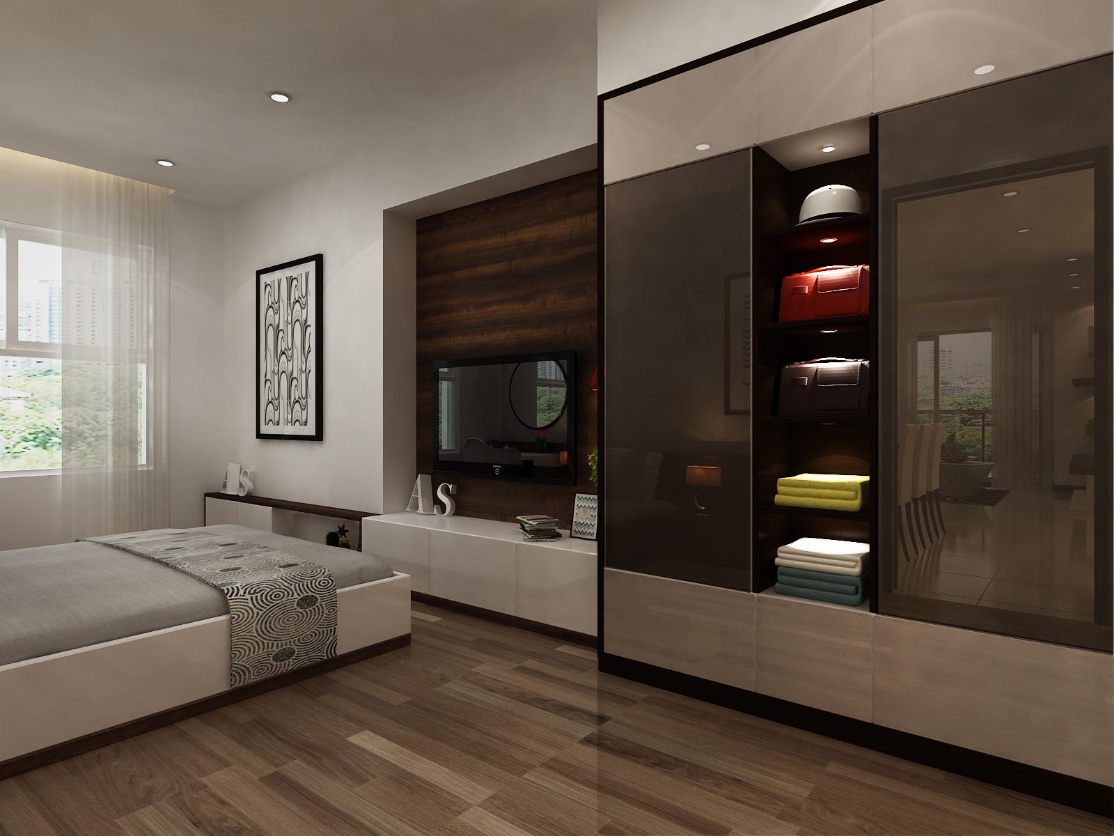 phòng ngủ căn hộ C1-8 - xigrandcourt