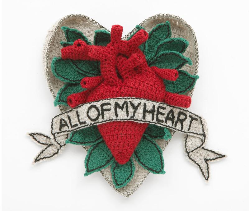 Kate Jenkins' fabulous Knit Heart Art