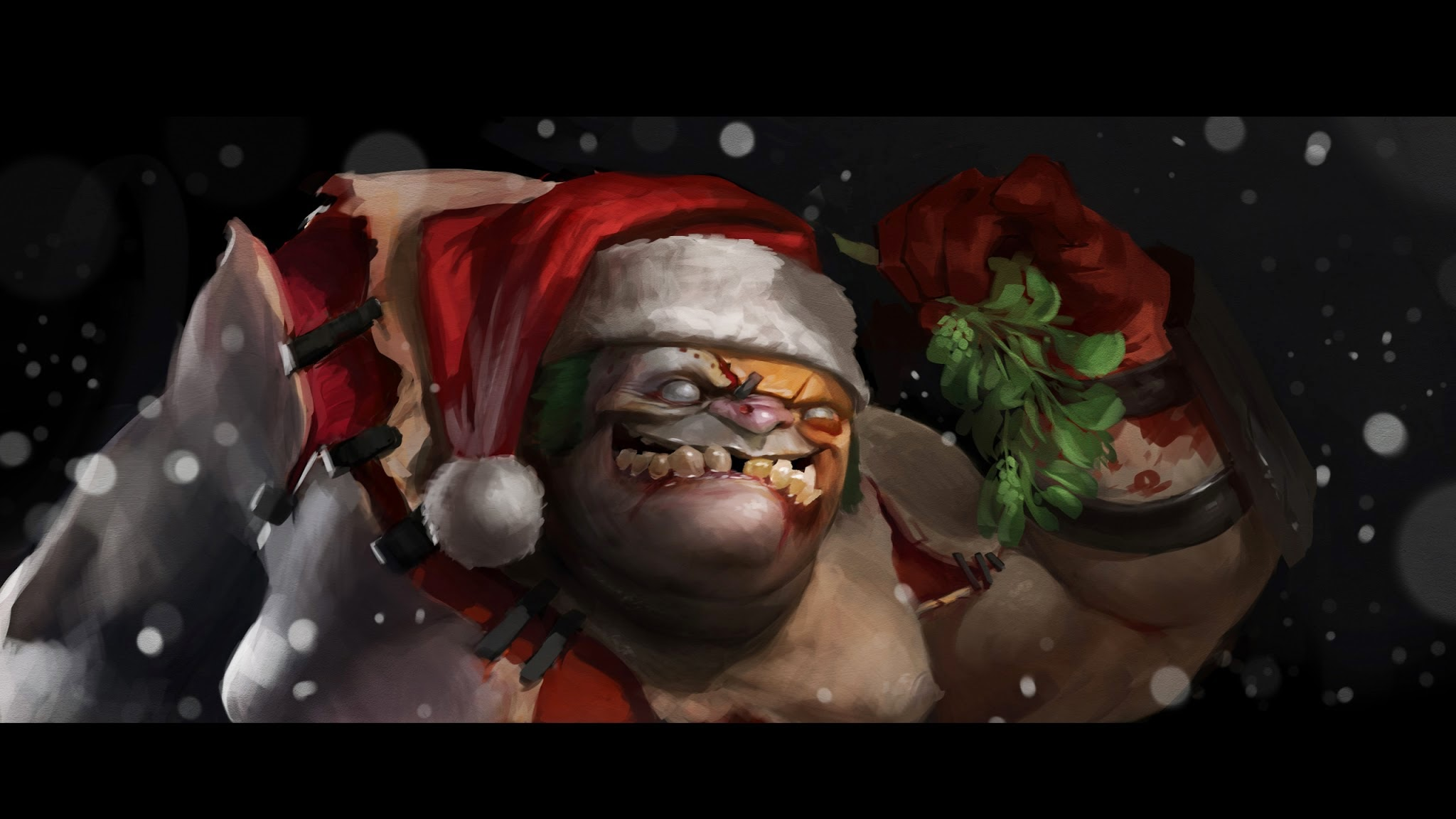 dota 2 christmas pudge wallpaper404.com hd