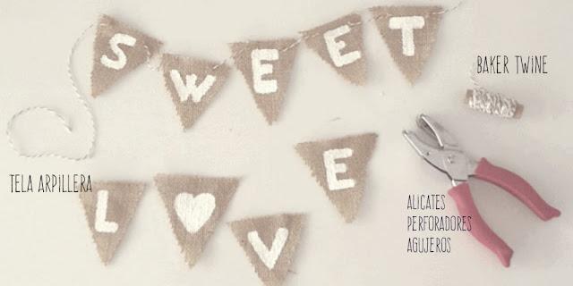 banderin-arpillera-sweet-love
