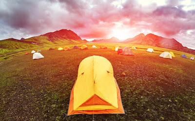En Islandia en Julio, hay más opción de zonas de acampada y ocio