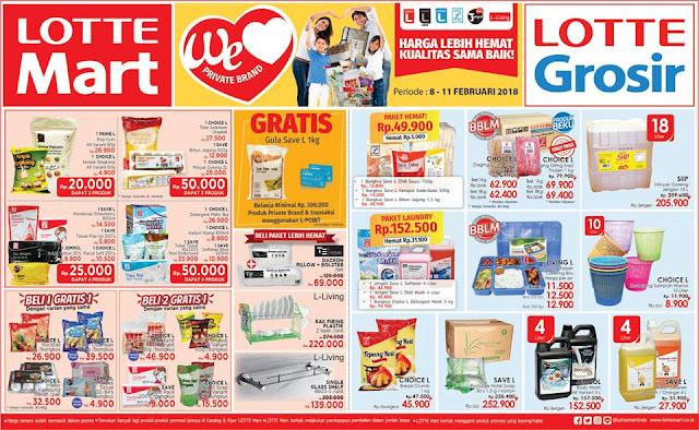 Katalog Promo LOTTEMART Hypermarket Akhir Pekan Periode 08 - 11 Februari 2018
