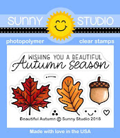 Sunny Studio Stamps: Beautiful Autumn Fall Leaves 2x3 Stamp Set
