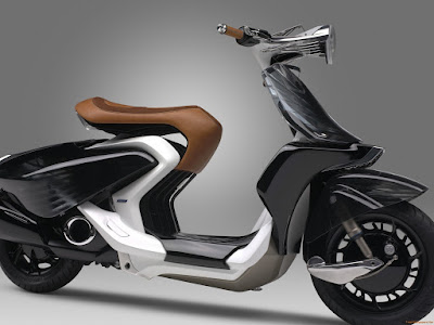 Yamaha 04Gen Concept Scooter right side angle image