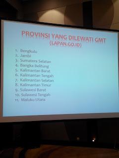 11 Provinsi yang dilewati GMT 2016