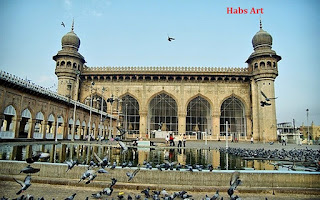 Biggest mosque of Hyderabad-THE MECCA MASJID