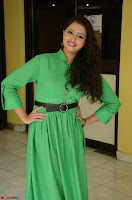 Geethanjali in Green Dress at Mixture Potlam Movie Pressmeet March 2017 037.JPG