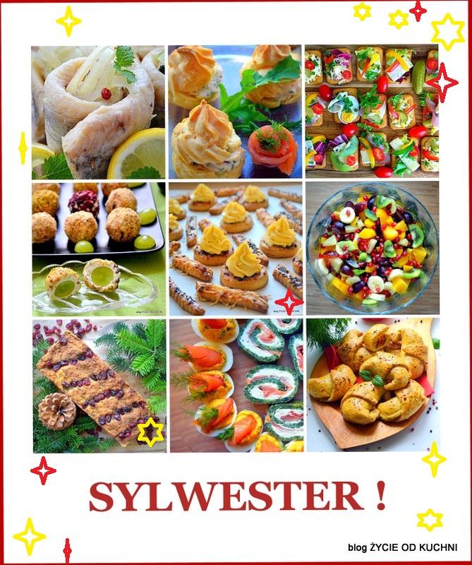 sylwester, impreza, finger food, menu na sylwestra, salatki, przekaski, koreczki, ciasta, zycie od kuchni