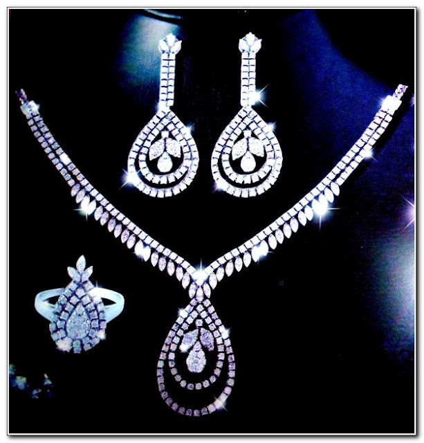 Diamond Necklace And Earring Set Price