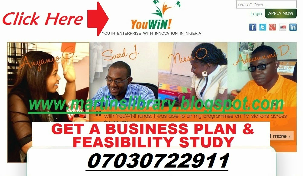 GET A BUSINESS PLAN FOR YOUWIN COMPETITION