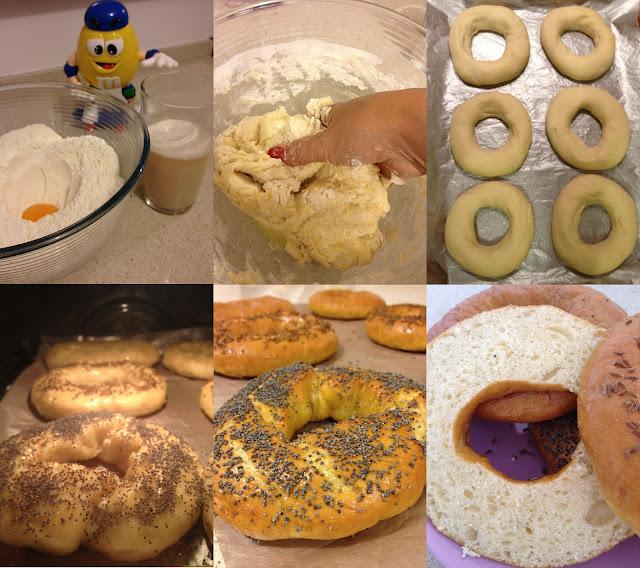 pain bagels carvi sésame pavot