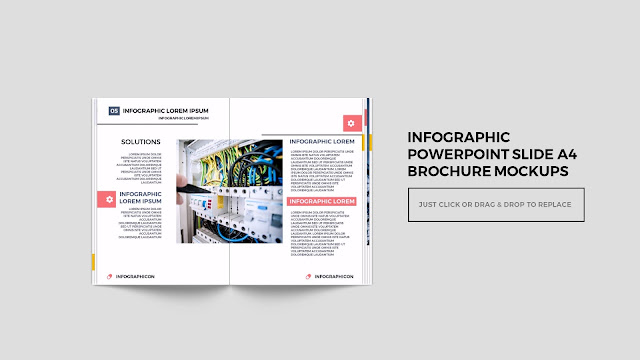 Infographic Multi Page Brochure Powerpoint Mockup Slide3