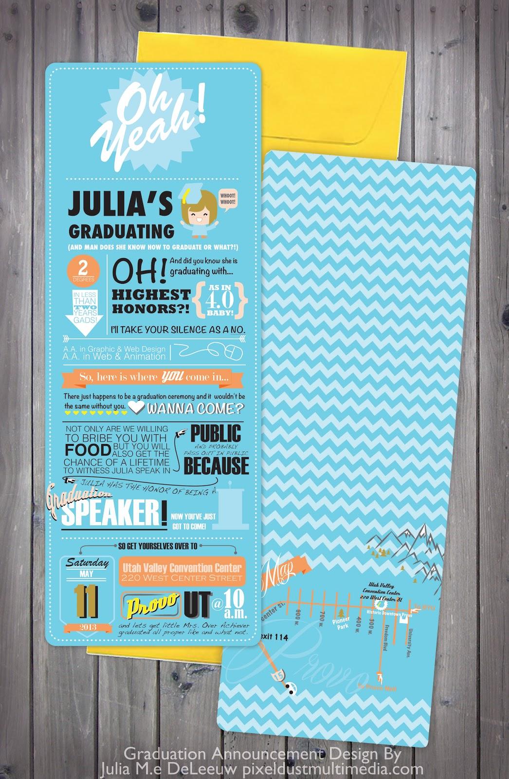 pixel dust graphic design blog graduation announcement design