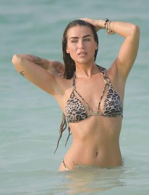 Jenny Thompson in Leopard Print Bikini in Dubai