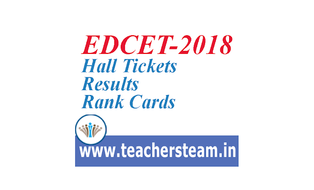 EDCET-2018 Hall Tickets Results Rank Cars