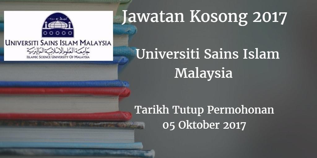 Jawatan Kosong USIM 05 Oktober 2017