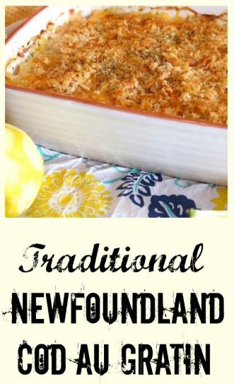 Tradítíonal Newfoundland Cod au Gratín