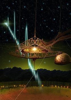El radiotelescopio de Arecibo.