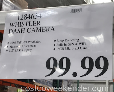 Deal for the Whistler Dash Cam at Costco