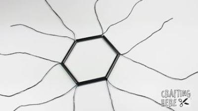 cara membuat lampu kristal dari sedotan