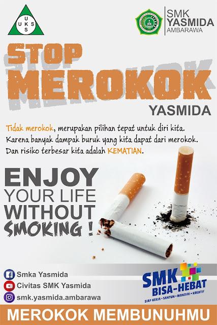 Desain Poster Stop Merokok by SMK Yasmida Ambarawa