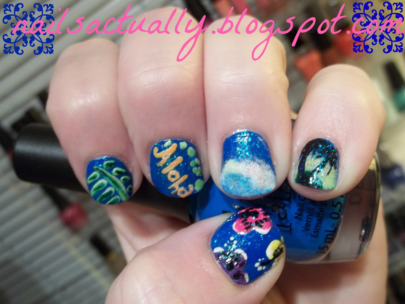 Nails Actually: Tropical Nails aka Hawaiian Nails for ...