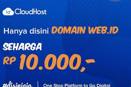 PROMO!! Domain WEB.ID CUMA 10rb Januari 2019
