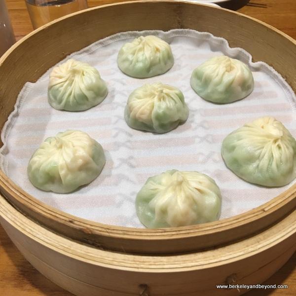 steamed dumplings at Din Tai Fung dim sum parlor in Taipei, Taiwan
