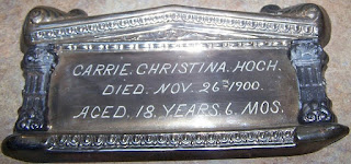 Carrie Hoch Coffin Plate