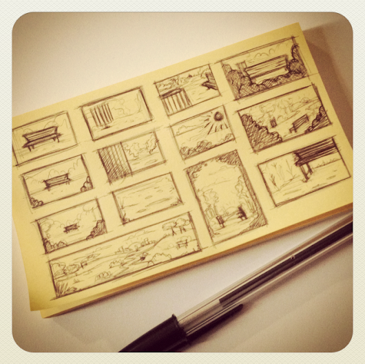 Thumbnail Composition Sketches