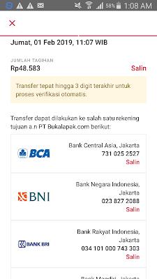 ini adalah rincian nya untuk pembayaran tagihan pln pascabayar