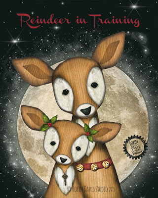 Reindeer in Training by Robin Davis Studio