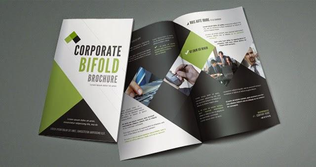 Corporate Bi Fold Brochure Template PSD