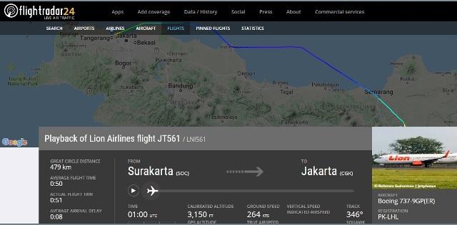 Pantau Penerbangan Pesawat melalui Situs FlightRadar24