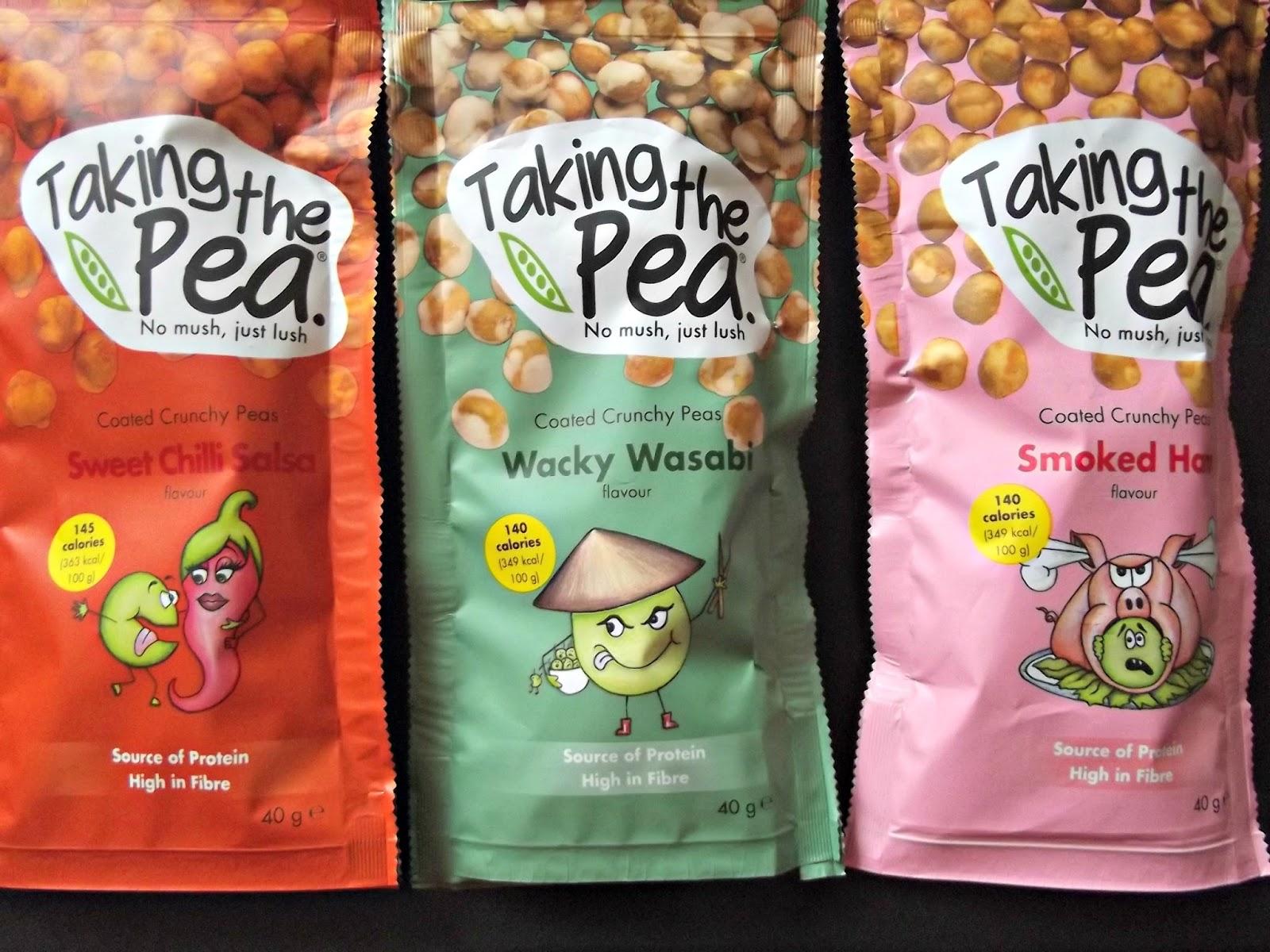 Taking the Pea coated crunchy pea snacks
