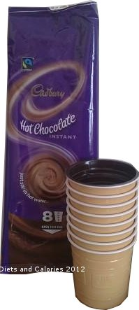 Diets And Calories Cadbury Instant Hot Chocolate Cups