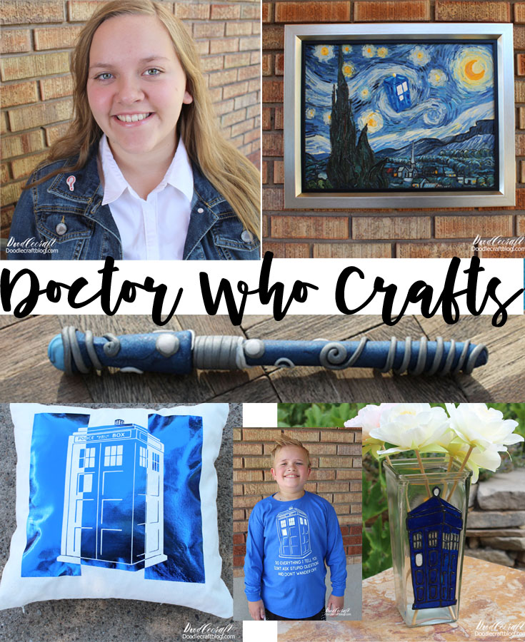 doodlecraft doctor who crafts and diy s