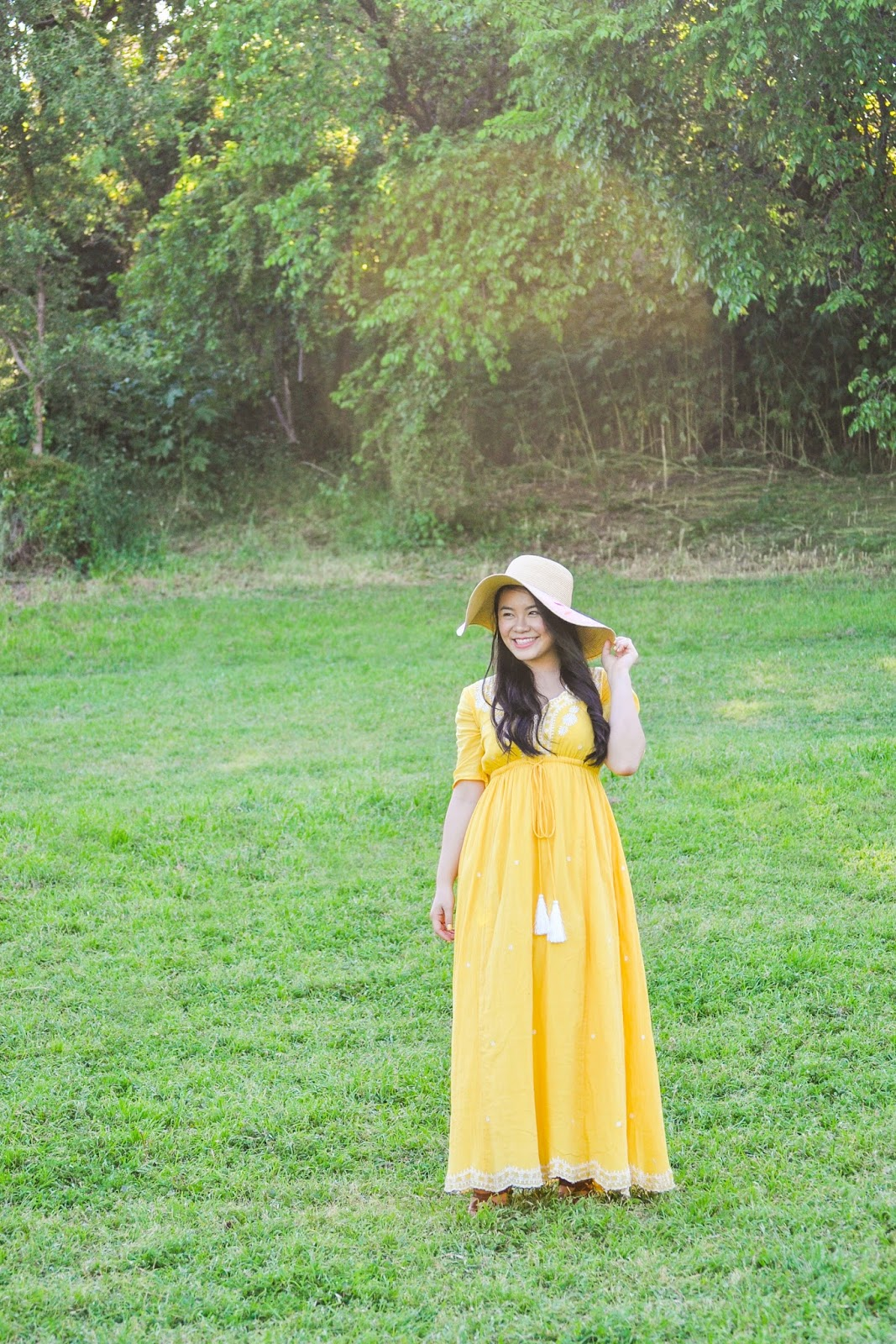 Yellow Maxi Dress from eShakti
