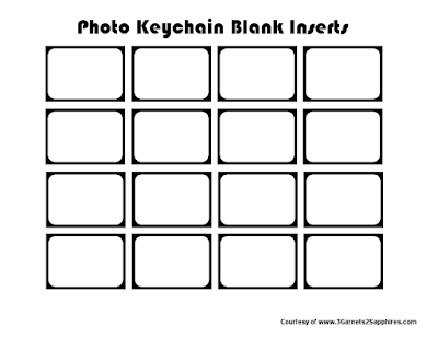 Free Printable Photo Keychain Blank Templates  |  3 Garnets & 2 Sapphires