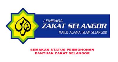 Semakan Status Permohonan Bantuan Zakat Selangor 2020